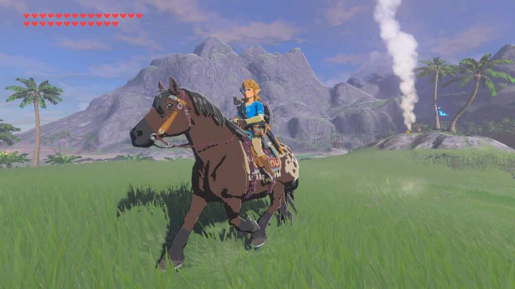 Link Riding Horse