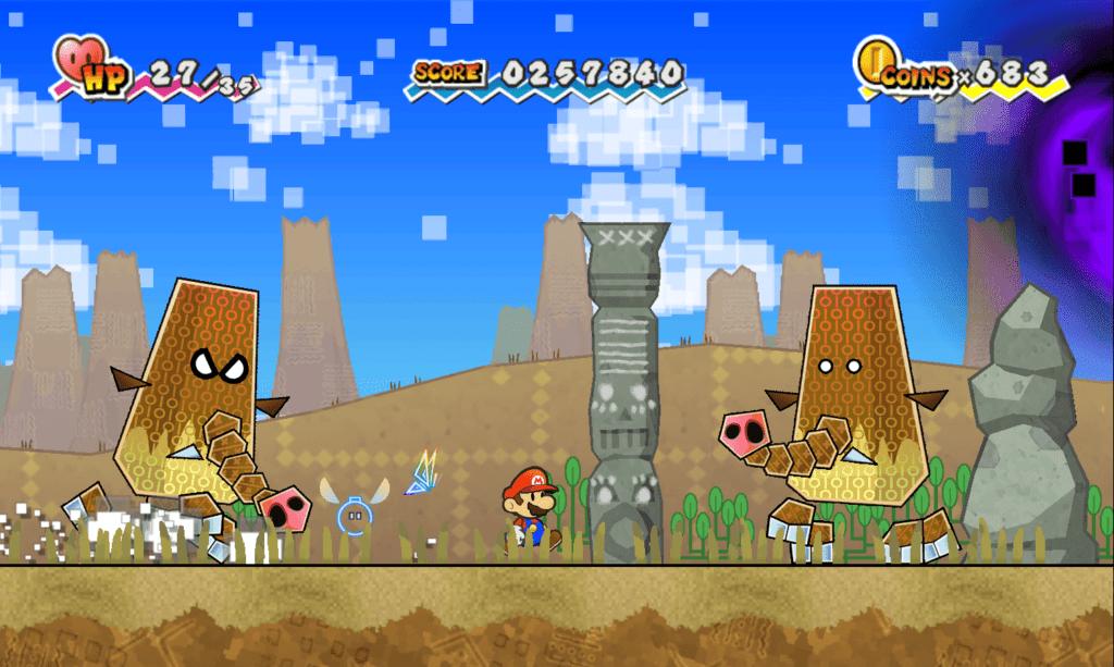 Super Paper Mario's sidescolling