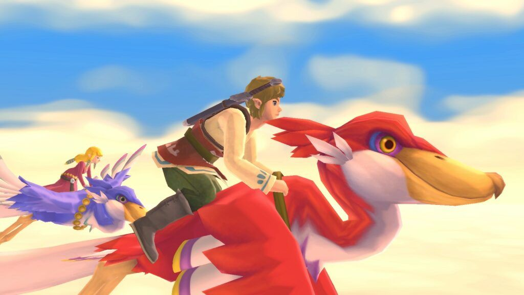 Link and Zelda Riding Loftwings