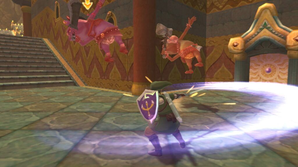 Link performing a spin attack
